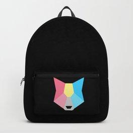 Genderflux pride wolf Backpack