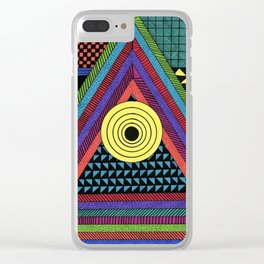 Colorful Triangle Geometric Shapes Clear iPhone Case