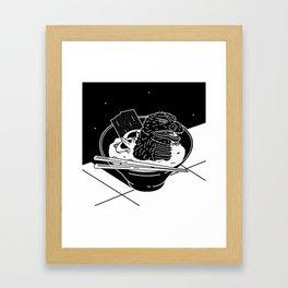 Godzilla Ramen Framed Art Print