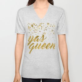 Yas Queen Unisex V-Neck