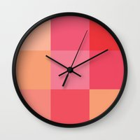 sushi Wall Clocks featuring Sushi by Colors For Lunch
