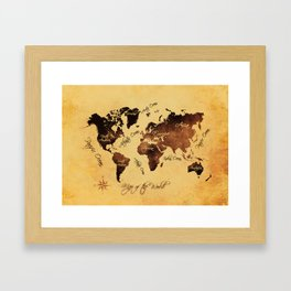 world map 75 Framed Art Print