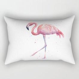 Flamingo Watercolor Pink Bird Rectangular Pillow