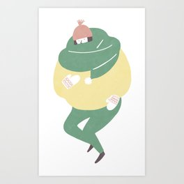 Be thickly dressed Art Print
