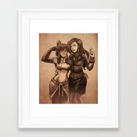 korrasami Framed Art Prints featuring korrasami photograph by iAHFY