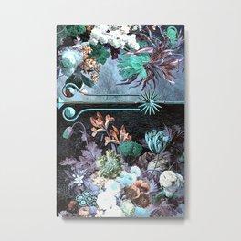 Vintage Floral Ocean Metal Print