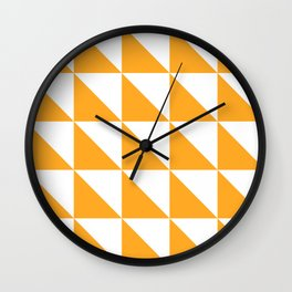 Geometric Pattern 01 Yellow Wall Clock
