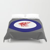 maori Duvet Covers featuring Rockwren Air Force Roundel by mailboxdisco