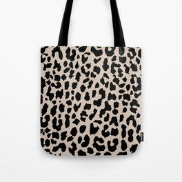 Tan Leopard Tote Bag