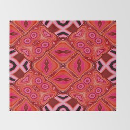In The Pink Digital Tribal Abstract  Throw Blanket