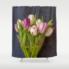 Flowers in a vase - Tulips are better than one Shower Curtain