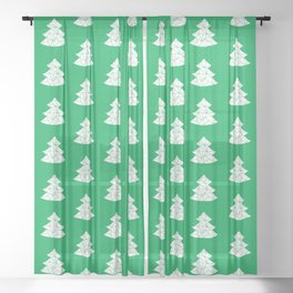 Christmas Tree pattern 2 Sheer Curtain