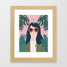 seeing palms Framed Art Print