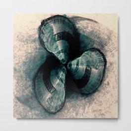 Shells in a row Metal Print