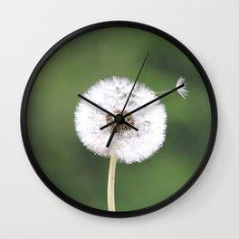 Dandelion Wish Come True Wall Clock