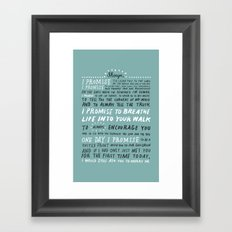Bryan Vows Framed Art Print