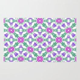 Multicolor Ornate Check Rug