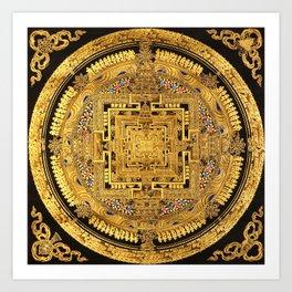 Buddhist Mandala Gold Temple 40 Art Print