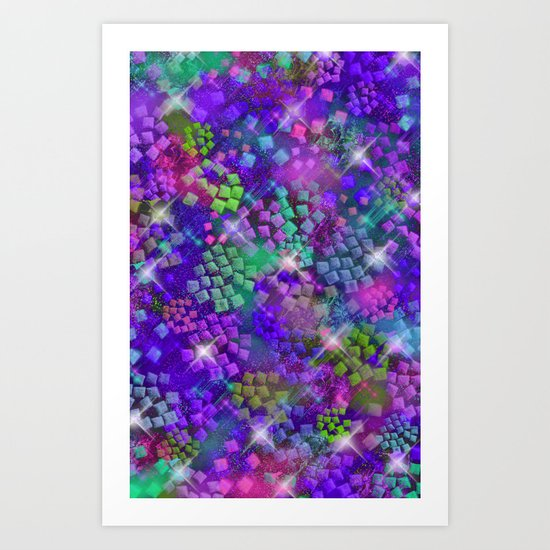 Stained Glass look Series 2 Art Print