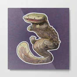 Eastern Hellbender Colored Metal Print