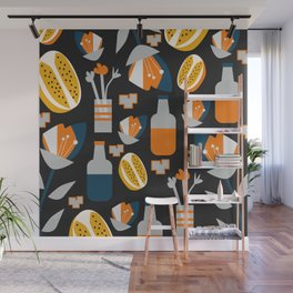 Orange juice Wall Mural