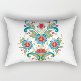 Nordic Rosemaling Rectangular Pillow