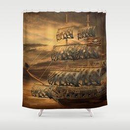 Pirate Ship Shower Curtain