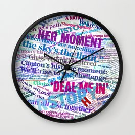 Hillary 2016 Abstract Headline Collage Wall Clock