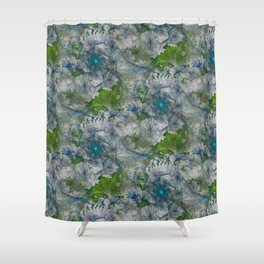 Grass Roots 3D Fractal Shower Curtain
