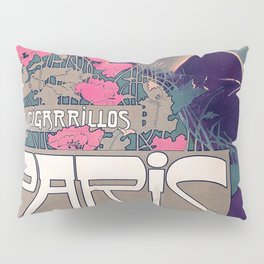 Poster Los Cigarillos Paris - A. Villa (new color rendition) Pillow Sham