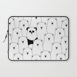 Polar bear and panda cartoon Laptop Sleeve