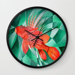 Marine Fire Fish or Lionfish Wall Clock