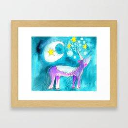 Moon Unicorn Framed Art Print