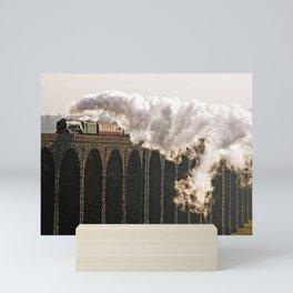 60163 Tornado Steaming over Ribblehead Viaduct Mini Art Print