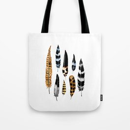 Feather Collage Tote Bag