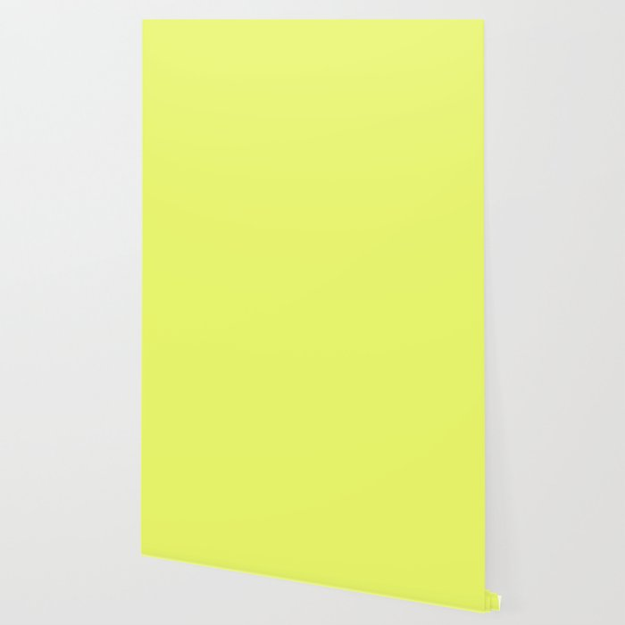 Lemon Yellow - Solid Color Collection Wallpaper