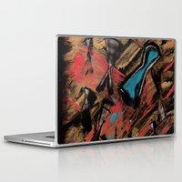 swimming Laptop & iPad Skins featuring Swimming by Sabrina Kee
