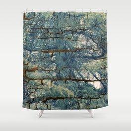 Fir Tree Skin Forest Shower Curtain