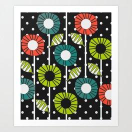Night bloomers Art Print