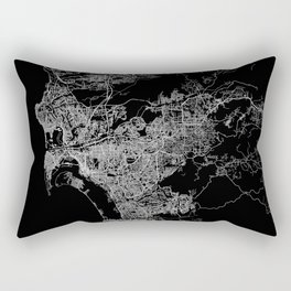san diego map Rectangular Pillow
