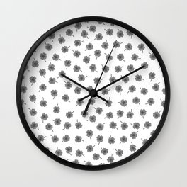 Light Gray Clover Wall Clock