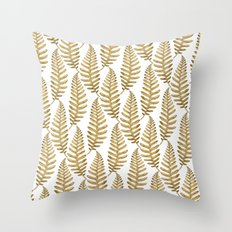 Gold Leaf Pattern Throw Pillow