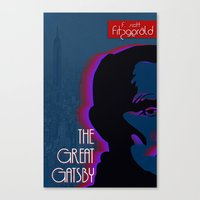 the great gatsby Canvas Prints featuring Great Gatsby by Ryan W. Bradley