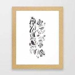 Black inking Framed Art Print