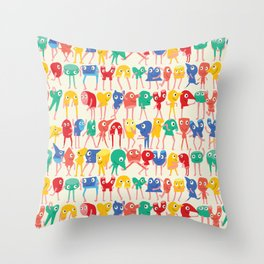 Dancing murs  Throw Pillow