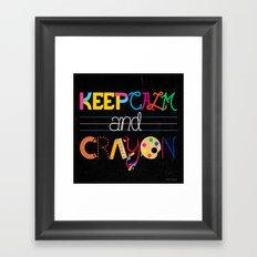 Keep Calm and Crayon Framed Art Print
