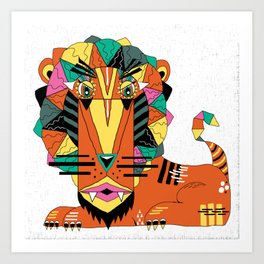 Bauhaus Lion Art Print