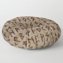 Ancient Celtic Runes  Alphabet pattern Floor Pillow