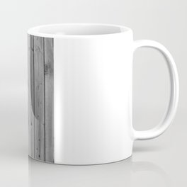 Anchstache | Hipster white distressed mustache anchor on retro gray wood Coffee Mug