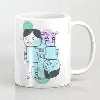 best friends Mugs featuring Best Friends by Silva Ware by Walter Silva